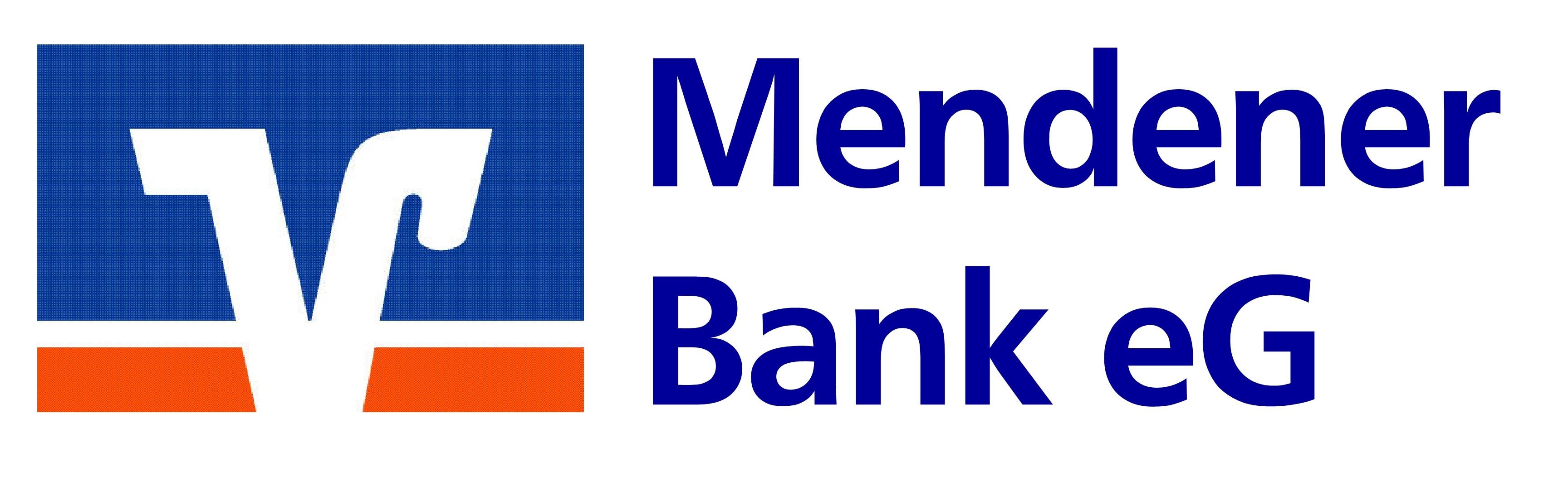 Das Logo der Mendener Bank eG.